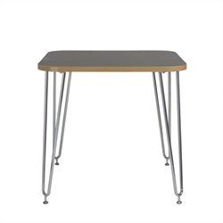 Eurostyle Hanh Activity Table in Gray and Chrome