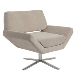 Eurostyle Carlotta Fabric Lounge Chair in Tan