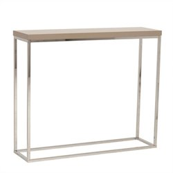 Eurostyle Teresa Console Table in Taupe Lacquer
