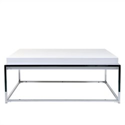 Eurostyle Greta Square Coffee Table in White Lacquer