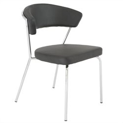 Eurostyle Draco  Dining Chair in Black and Chrome