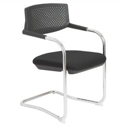 Eurostyle Fauve Visitor Guest Chair in Black and Chrome