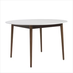 Eurostyle Manon Round Dining Table in Matte White