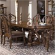 Pulaski San Mateo Double Pedestal Formal Dining Table in Brown Finish