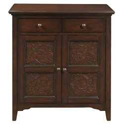 Pulaski Faux Metal Accent Door Cabinet in Brown