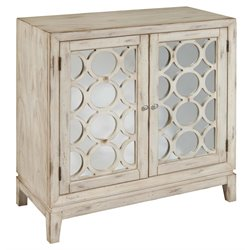 Pulaski Overlay Mirrored Accent Door Chest in White