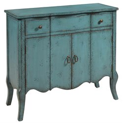 Pulaski Accent Chest in Distressed Turquoise Blue