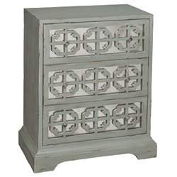 Pulaski Overlay Mirrored Accent Chest in Distressed Gray