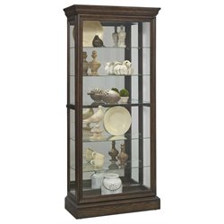 Pulaski Hillsville 2 Way Sliding Door Mirrored Curio Cabinet in Brown