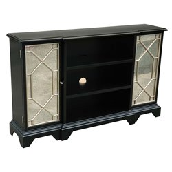 Pulaski Payton Mirrored Door Console in Black