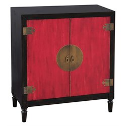 Pulaski Tao Oriental Bar Chest in Red and Black