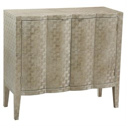 Pulaski Lorelai Textured Metallic Bar Cabinet in Gold and Platinum