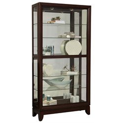 Pulaski Two Way Sliding Door Curio in Cherry