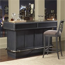 Pulaski Vintage Tempo Home Bar in Charcoal Black