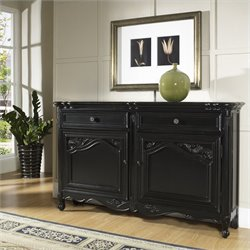 Pulaski Accents Tara Hall Accent Chest in Black Antique Rub