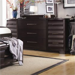 Pulaski Tangerine 330 9 Drawer Triple Dresser in Sable Finish