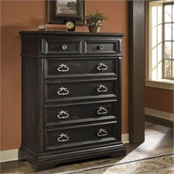 Pulaski Brookfield 6 Drawer Tall Chest in Ebony Finish