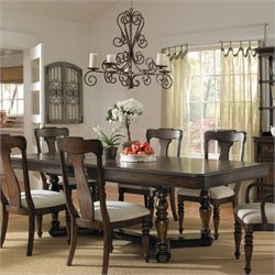 Pulaski Saddle Ridge Dining Table in Aged Pecan Finish