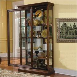 Pulaski Edwardian Curio in Cherry Finish