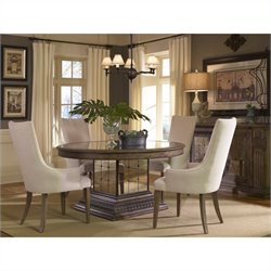 Pulaski Accentrics Home Aphrodite Round Table and Arm Chairs 5 Pc Set