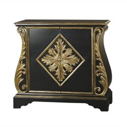 Pulaski Accent Chest in Black and Gold