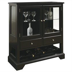 Pulaski Wine Cabinet in Dark Leo Brown