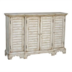 Pulaski Accents Console in Weathered White