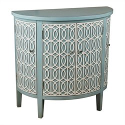 Pulaski Accents Demilune Accent Chest in Fresh Blue