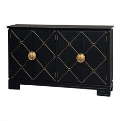 Pulaski Accents Console in Black Hauser and Gold