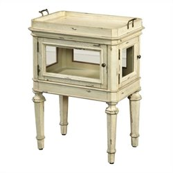 Pulaski Accents Side Table in Antique White