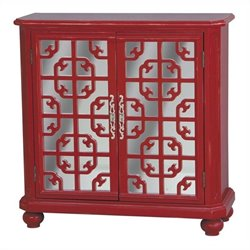 Pulaski Accents Door Accent Chest in Bright Red