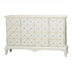 Pulaski Accents Credenza in White and Gold