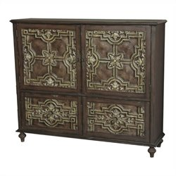 Pulaski Accents Ornate Credenza in Dark Brown