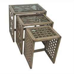 Pulaski Accents Nesting Table in Natural Brown