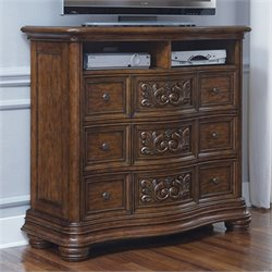 Pulaski Cheswick Media Chest in Dark Wood