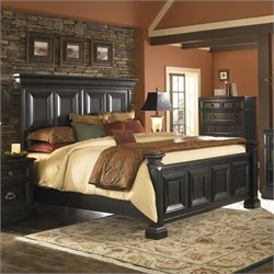 Pulaski Brookfield 2PC Queen Panel Bed Set in Ebony Finish