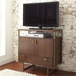 Pulaski Modern Harmony Media Chest in Walnut Brown