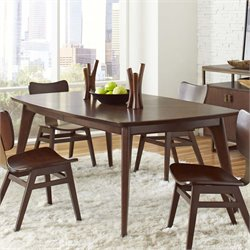 Pulaski Modern Harmony Extendable Dining Table in Walnut Brown
