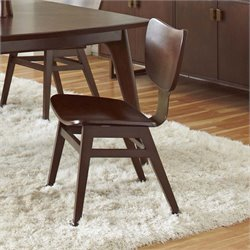 Pulaski Modern Harmony Dining Side Chair in Walnut Brown