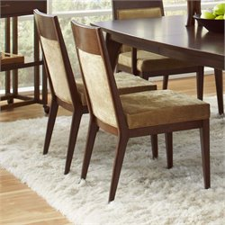 Pulaski Modern Harmony Upholstered Dining Side Chair in Walnut Brown