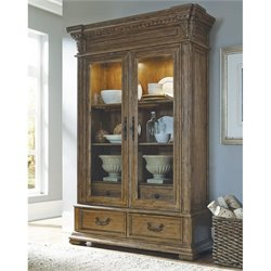 Pulaski Stratton China Cabinet in Acacia