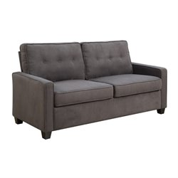 Pulaski KD Upholstered Tufted Back Loveseat in Slate