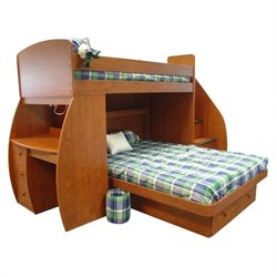 Berg Furniture Sierra Space Saver Twin over Full Loft Bed with Desk