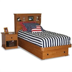 Berg Furniture Sierra Twin Bookcase Platform Bed