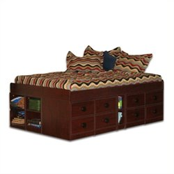 Berg Furniture Sierra Full Size Low Jr. Captain's Bed