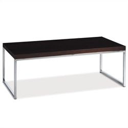 Avenue Six Wall Street Rectangle Wood Top Coffee Table in Espresso