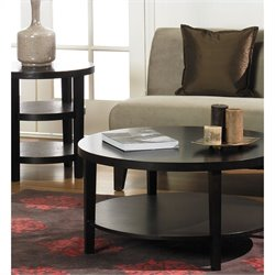 2 Piece Coffee and End Table Set in Espresso