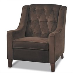 Tufted Club Chair in Brown