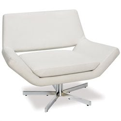 Leather Swivel Chair in White