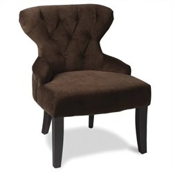 Tufted Hourglass Chair in Brown